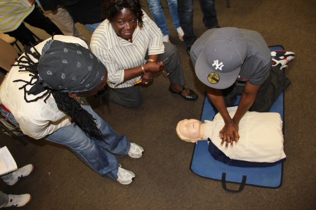 Health Champions on a first aid course