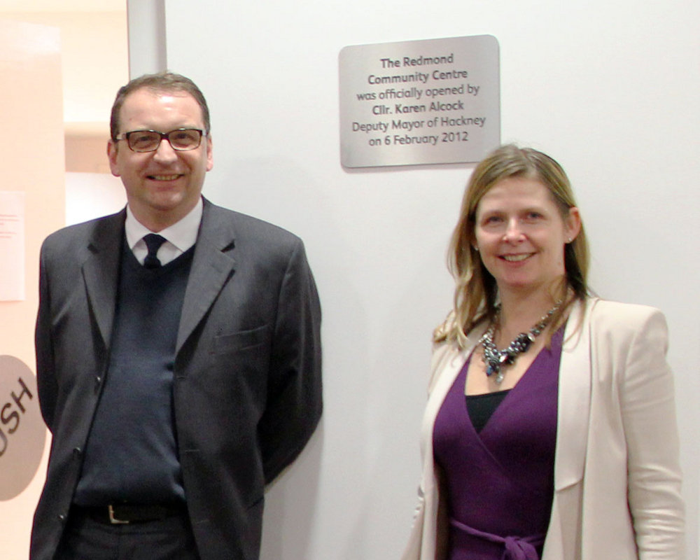 Deputy Mayor Karen Alcock opens the centre
