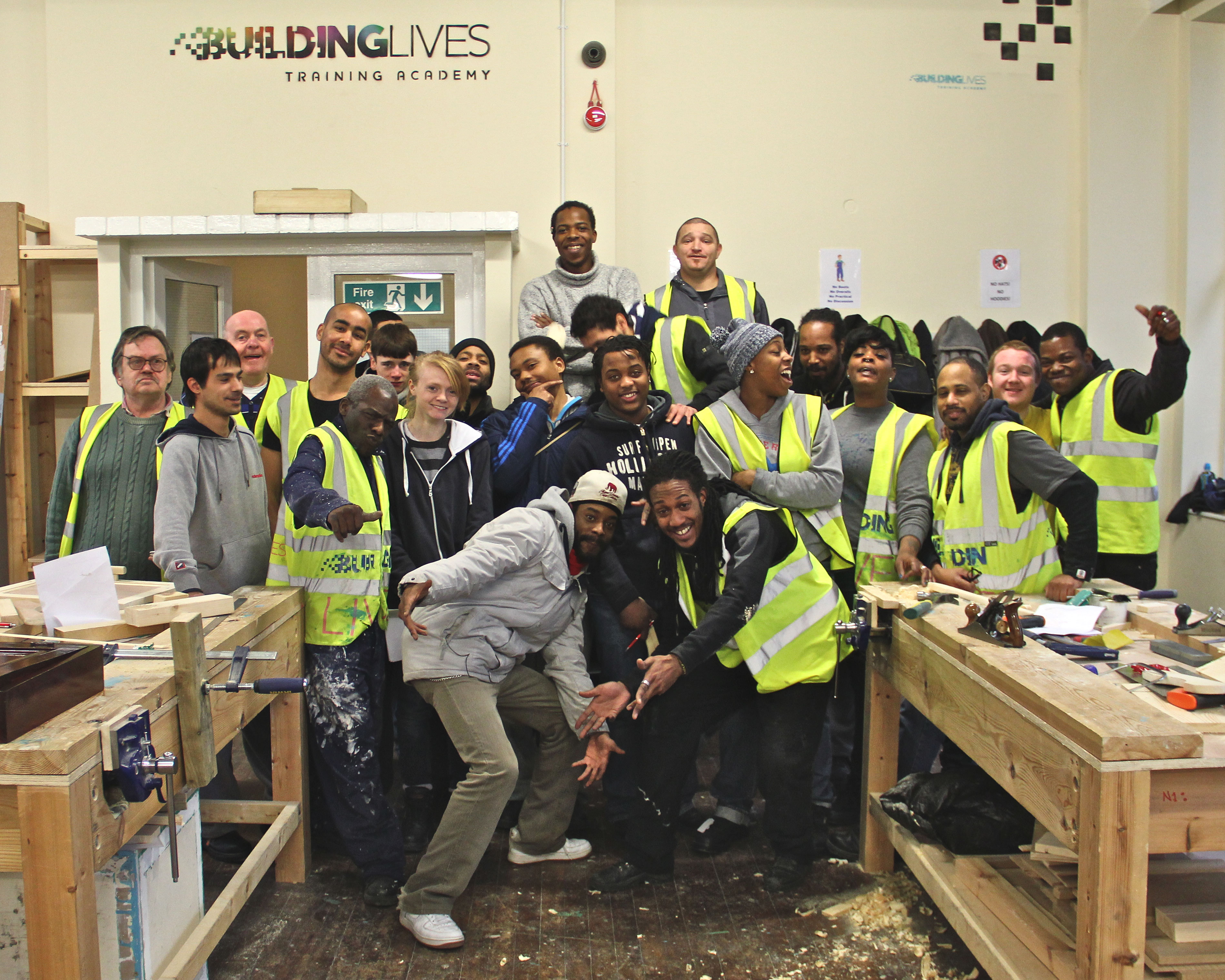Trainees at Building Lives Training Academy