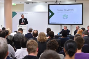 Simon Donovan speaking at the '5 years on' celebration of the Woodberry Down Regeneration scheme