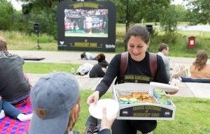 Wimbledon Tennis Screening at Woodberry Down Summer 2015