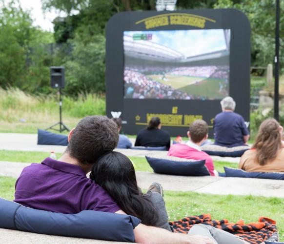 Wimbledon Tennis Screening at Woodberry Down Summer 2015