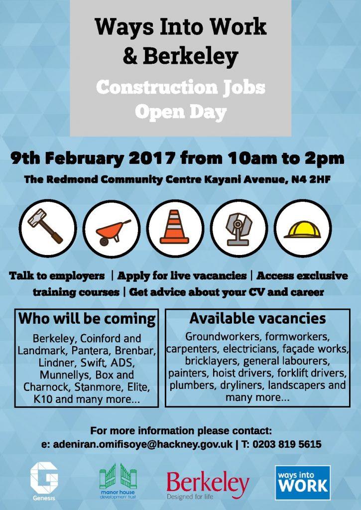 Construction Jobs Fair February 2017